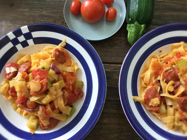 Pasta mit Chorizo
